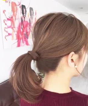 女性の転職面接髪型ポニーテールの結び目隠し方