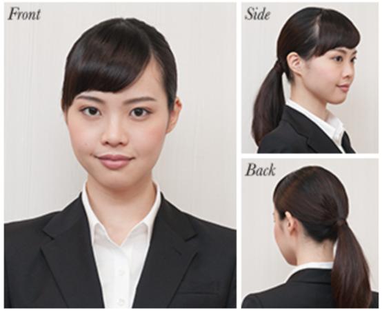 女性の転職面接髪型実例おくれ毛