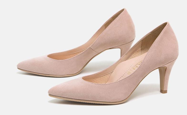 女性面接靴おすすめスエードパンプス